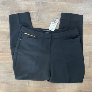 Jones New York stretch black cropped pants